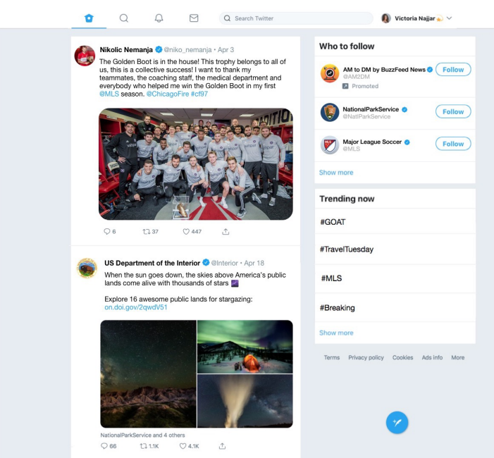 A new Twitter experience on Windows