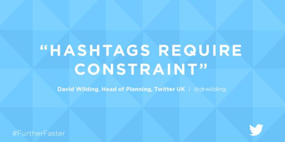 2. Hashtags require constraint