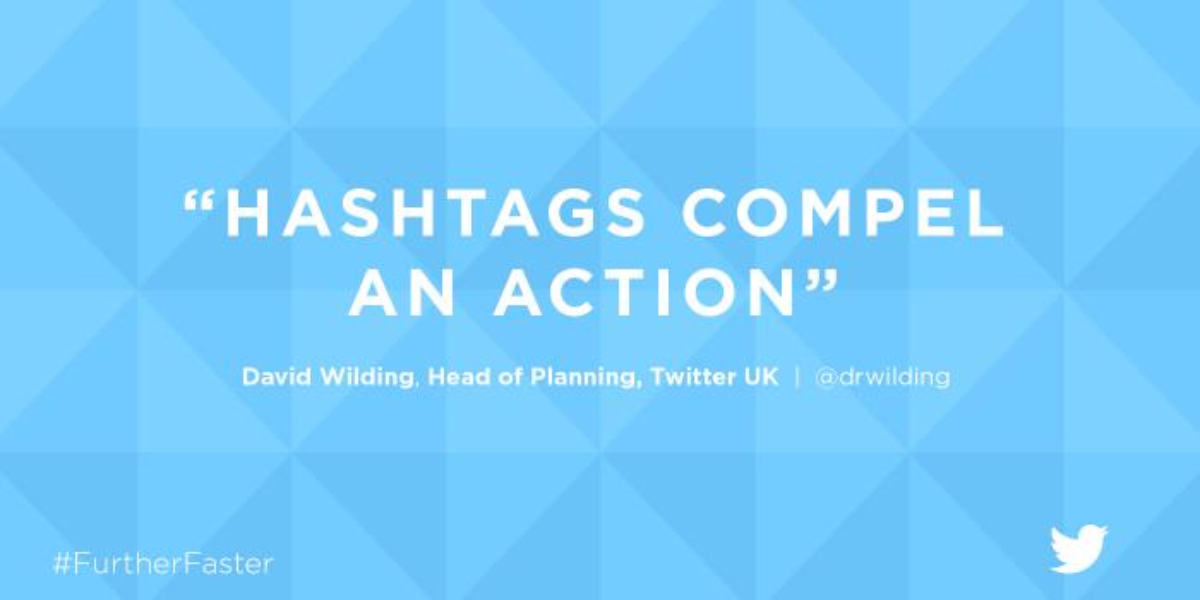3. Hashtags compel an action
