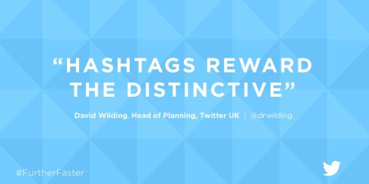 5. Hashtags reward the distinctive.