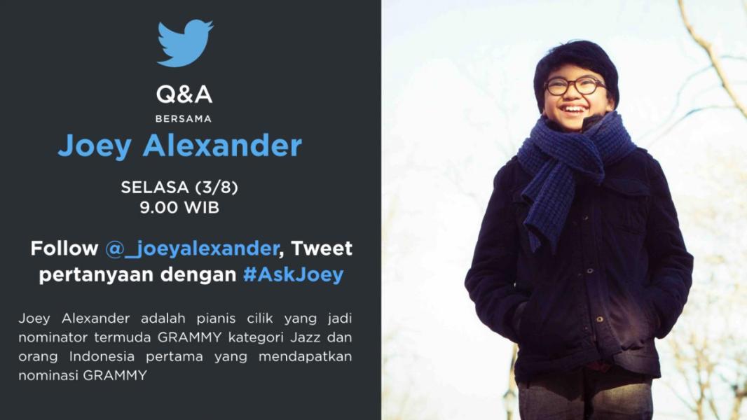 #AskJoey: Tanya Jawab via Twitter dengan Pianis Jazz Muda Joey Alexander
