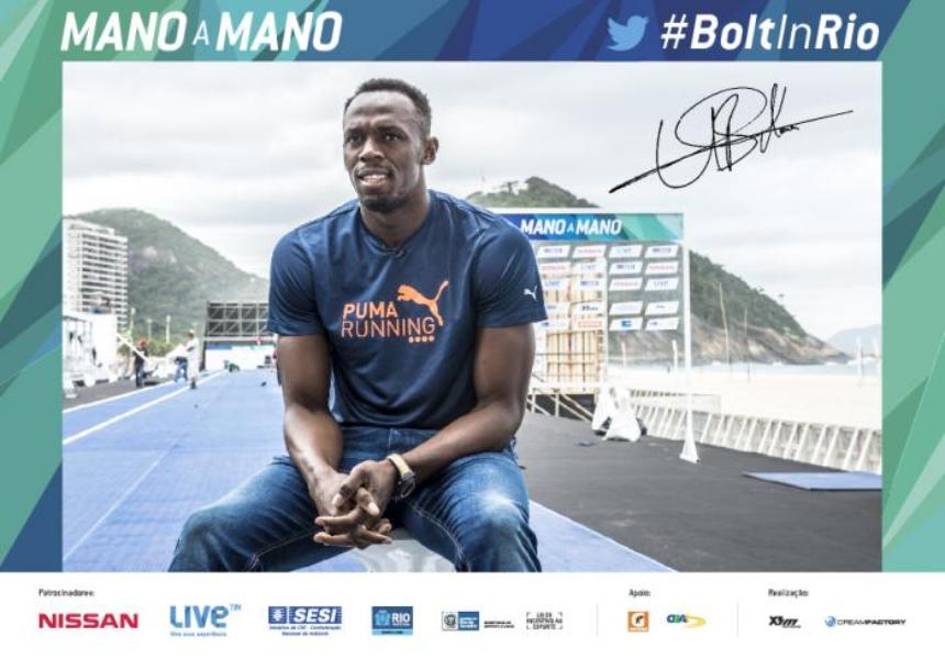 #BoltInRio: seu Tweet vale uma foto autografada do homem mais rápido do mundo