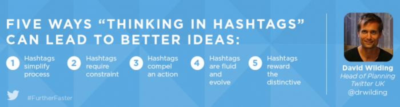 "Five ways ""thinking in hashtags"" can lead to better ideas"