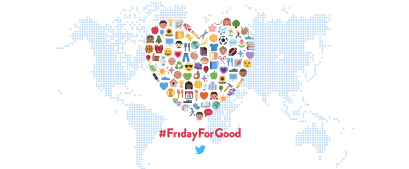 #FridayForGood: Twitter promove dia de trabalhos voluntários