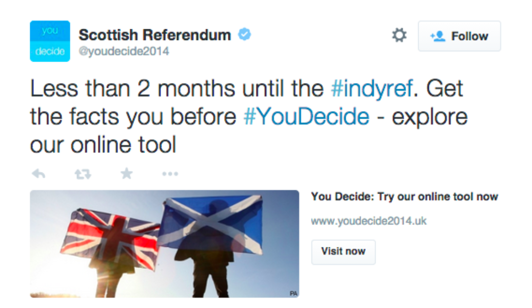 #indyref. Get the facts you before #YouDecide - explore our online tool