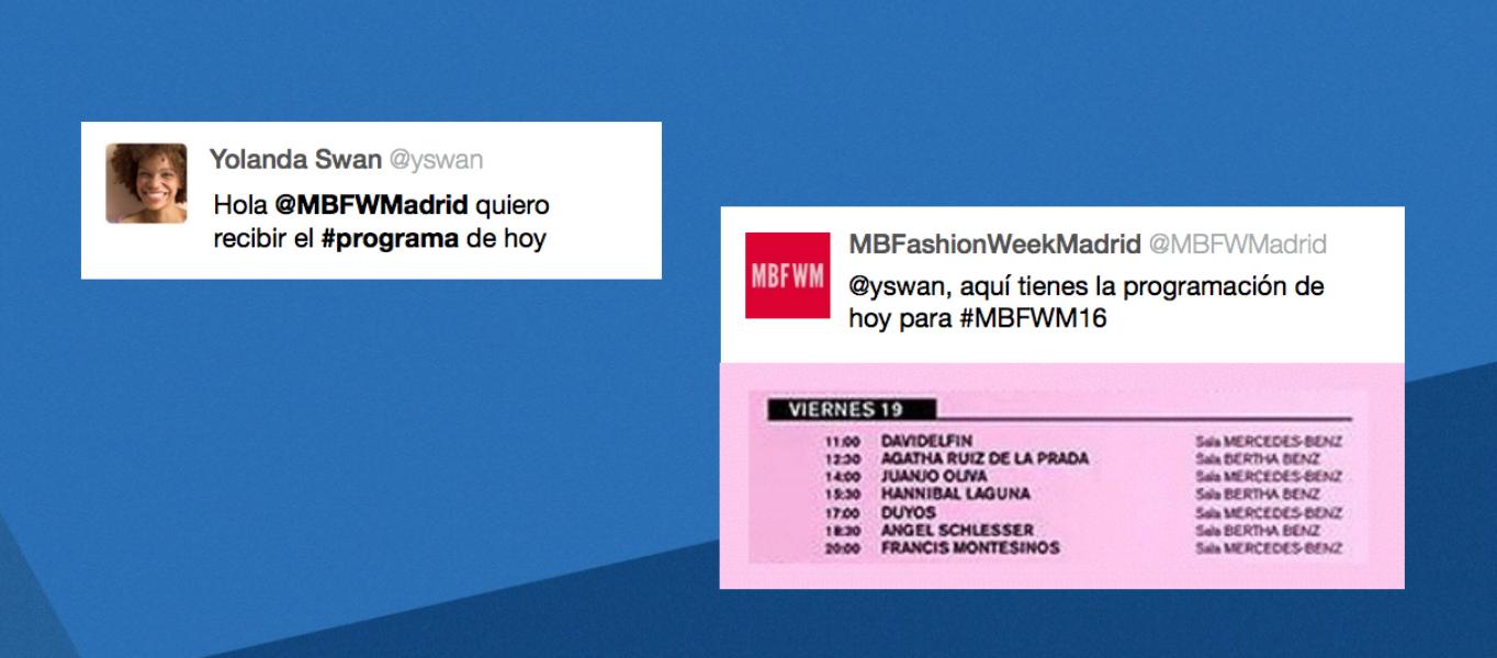 #MBFWM16: La moda española apuesta por el tiempo real con Twitter