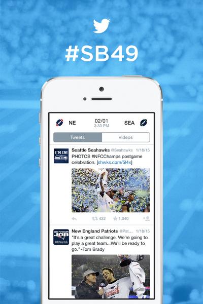 @Patriots x @Seahawks: sua experiência #SB49 no Twitter