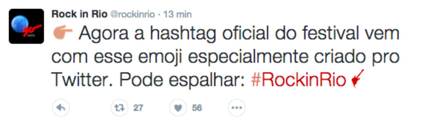 #RockinRio: sua timeline vai ficar mais rock'n'roll com o novo Twitter emoji
