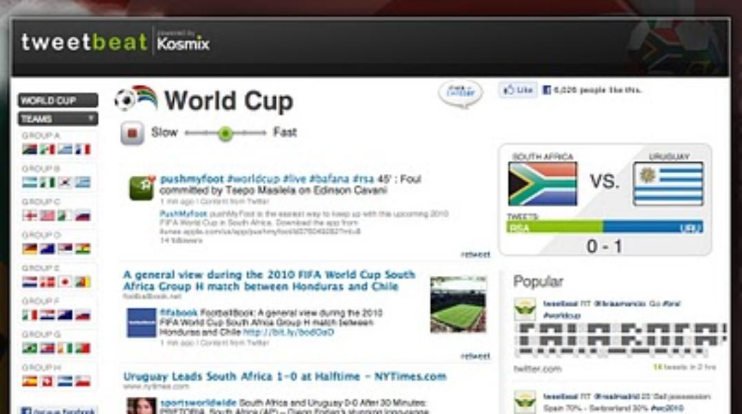 @twitterapi Showcase: TweetBeat's World Cup