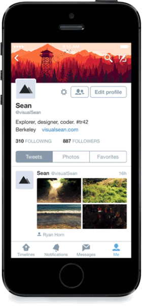 A new profile experience on Twitter for iPhone