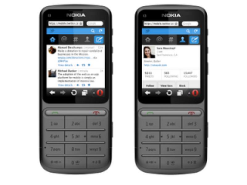 Actualización de Twitter en web móvil