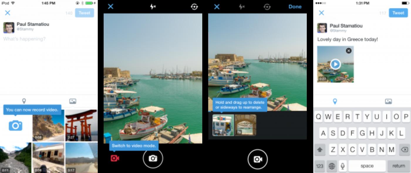 Agora no Twitter: Mensagens Diretas em grupo e captura de vídeo pelo celular