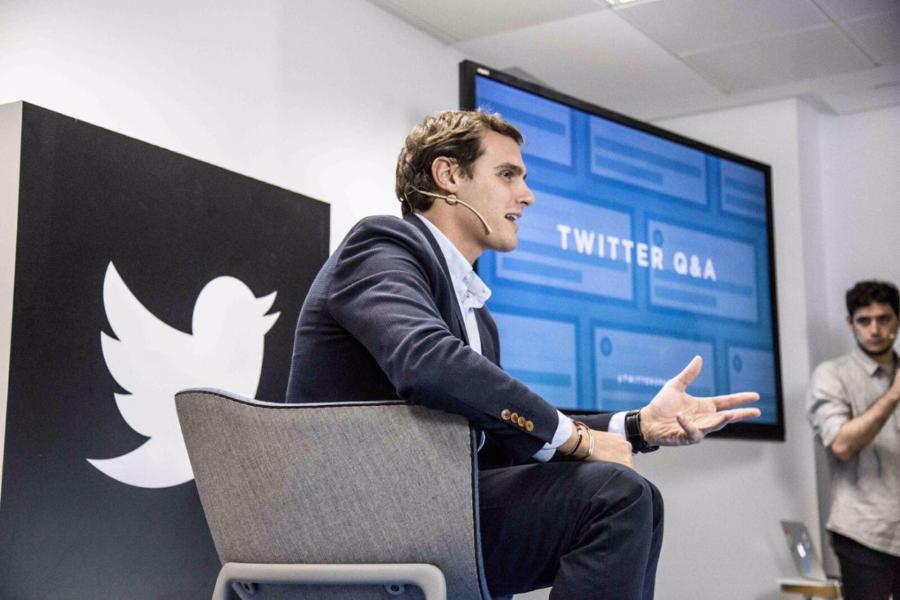 Albert Rivera visita @TwitterSpain y estrena en España Twitter Q&A