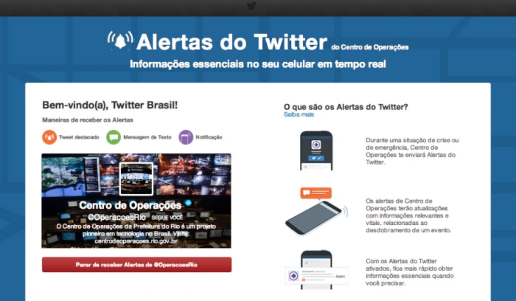 Alertas do Twitter agora disponível no Brasil