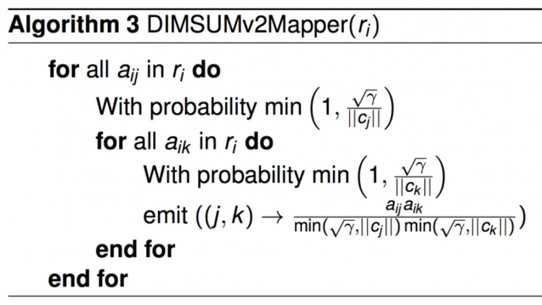 All-pairs similarity via DIMSUM