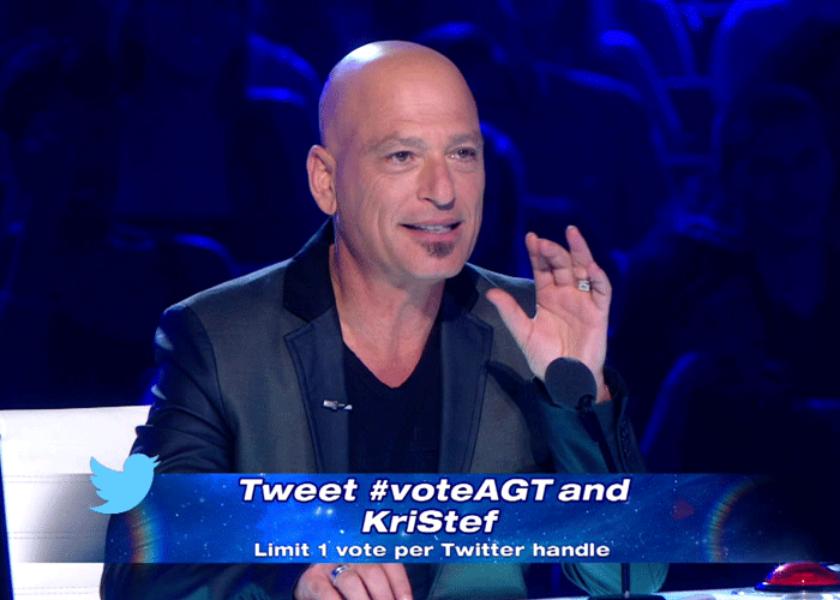 America's Got Talent viewers vote via Twitter