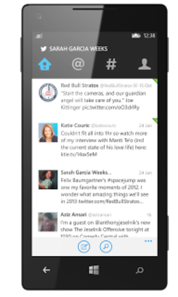 An update to Twitter for Windows Phone