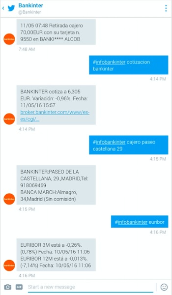 Bankinter lanza el primer servicio de banca por Twitter en España