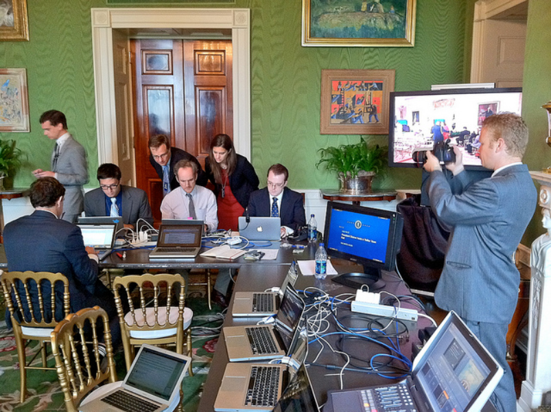 Behind the scenes with the White House