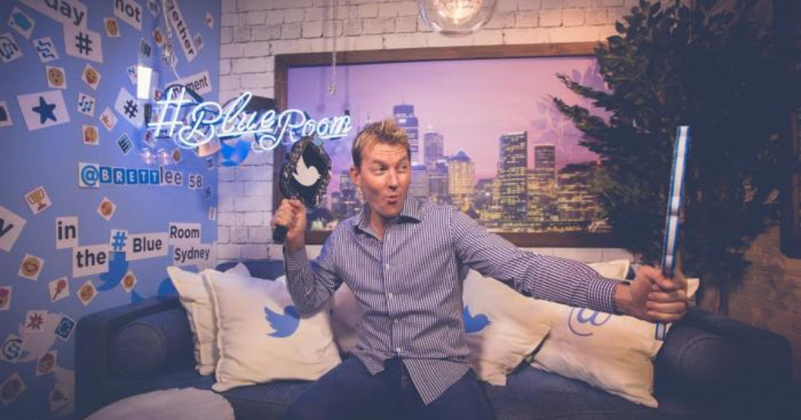 Brett Lee hosts a Twitter Q&A in the #BlueRoom
