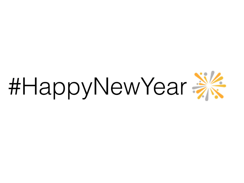 Celebrate #HappyNewYear on Twitter in India