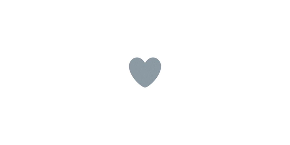Corazones en Twitter