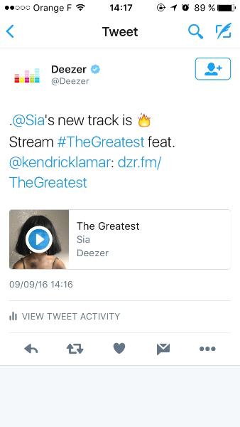 Découvrez de nouvelles chansons grâce à Deezer et Twitter