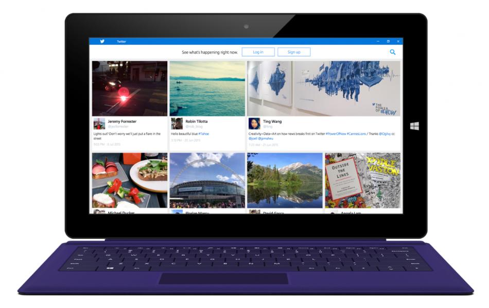 Designing Twitter for Windows 10