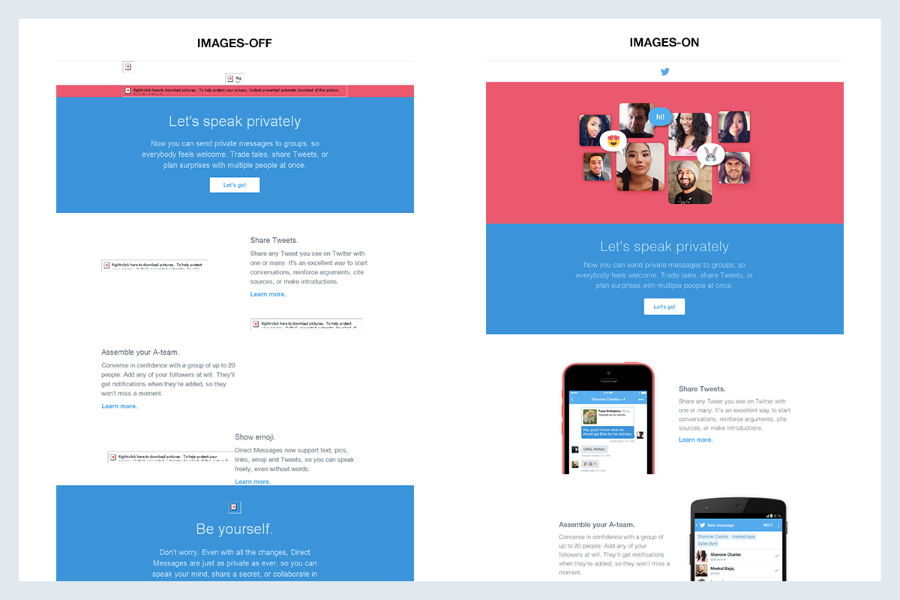 Designing with constraint: Twitter's approach to email