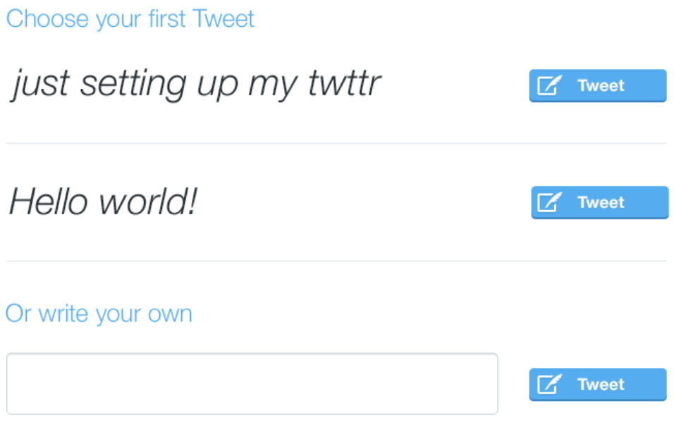 Exploration in adding Tweet suggestions for new users