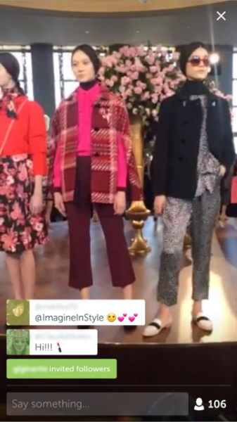 Fans and followers tuned into Neiman Marcus' live Periscope coverage at the Jason Wu show