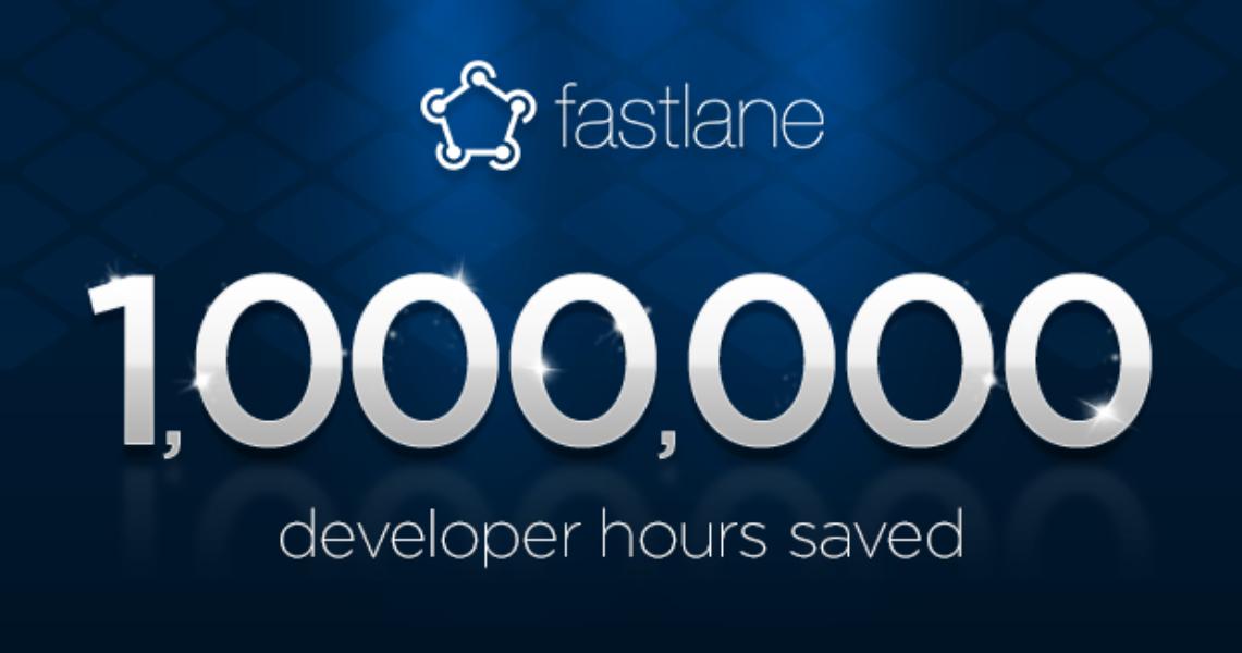 Fastlane has saved over 1 million developer hours