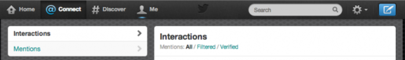 Filtering mentions