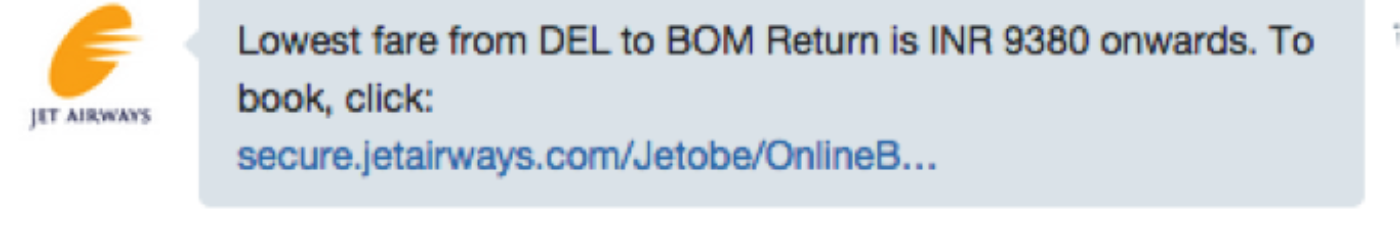 Flight status and low fares now just a Tweet away