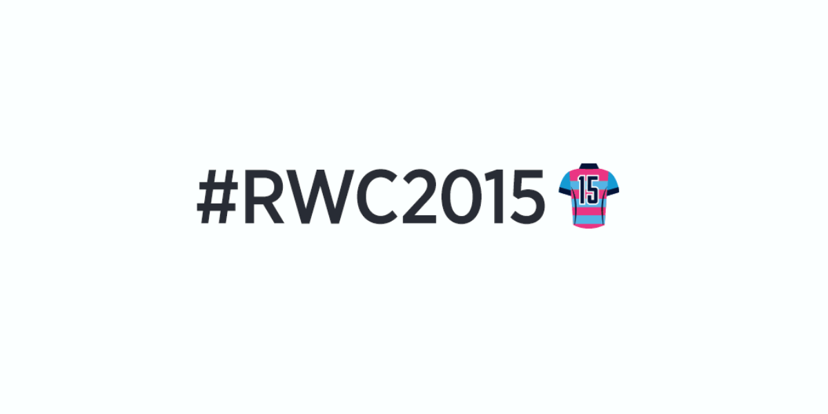 Follow #RWC2015 on Twitter