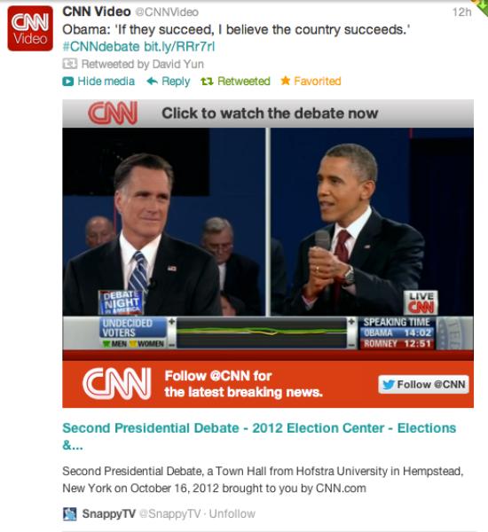 Follow the Presidential Debate tonight through the Twitter Ecosystem