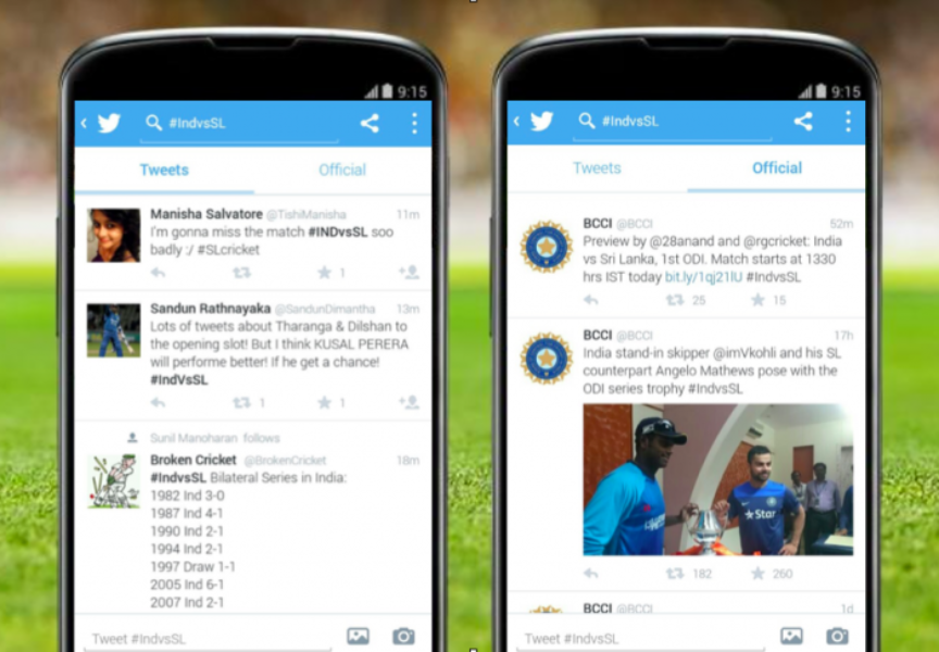 Gearing up for #IndvsSL on Twitter