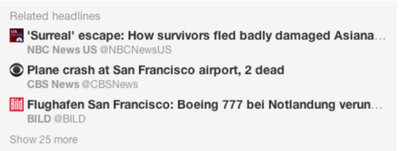Headlines tell the story behind the Tweet