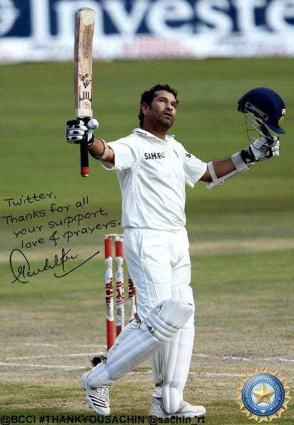 Hello India, #ThankYouSachin