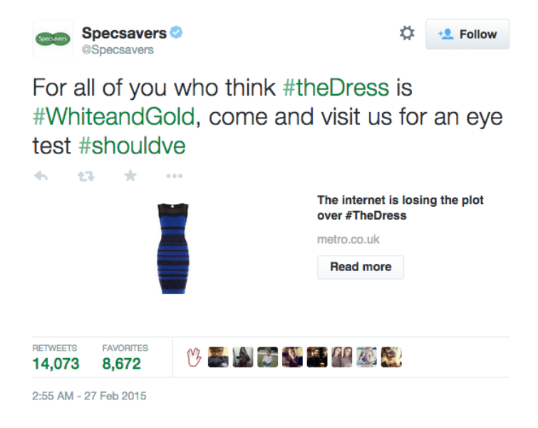 How brands fitted into #TheDress