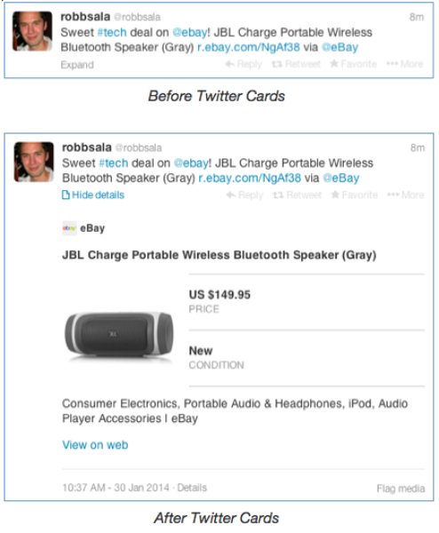 How eBay uses Cards and Twitter Card analytics