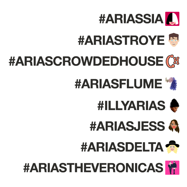 How to celebrate the #ARIAS on Twitter