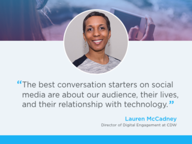 Influencer Q&A: how @CDWCorp connects with IT decision-makers on Twitter