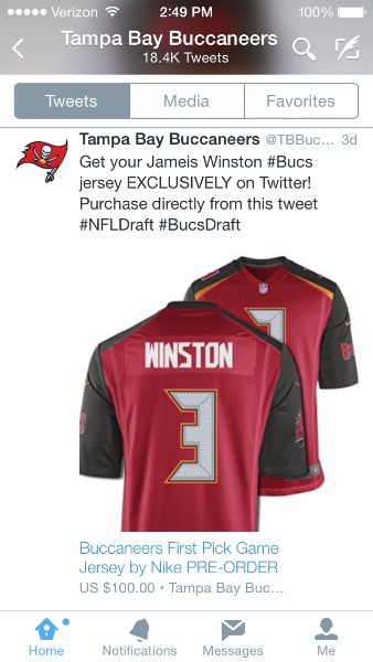 Influencer Q&A: How the Tampa Bay Buccaneers score with the Buy button
