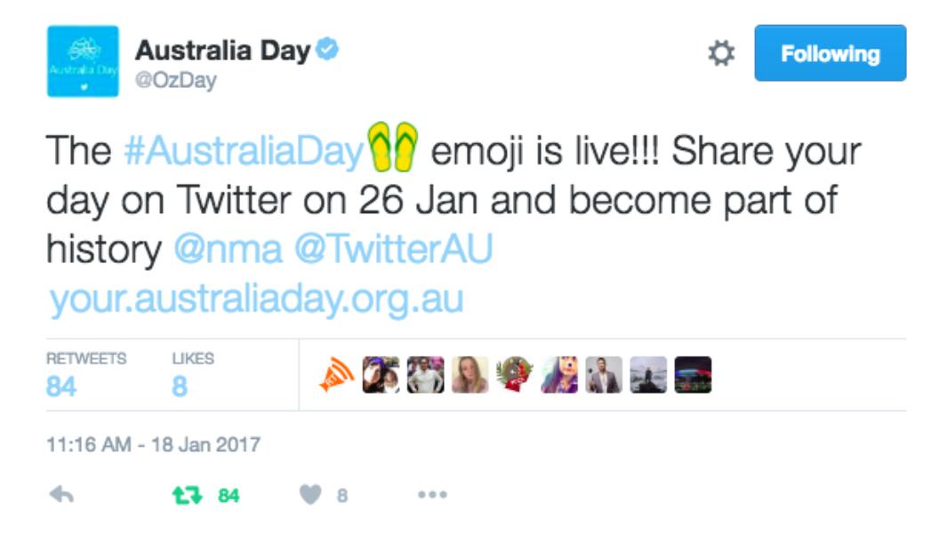Introducing the 2017 #AustraliaDay emoji
