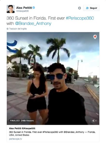 Los videos de 360 grados en directo, llegan a Twitter