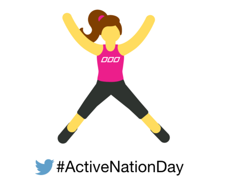 Make your move matter this #ActiveNationDay with a Twitter emoji