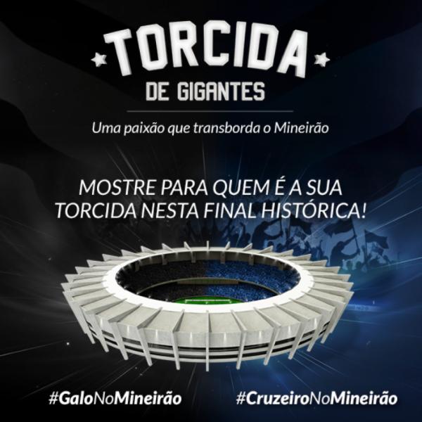 Minas Arena convoca torcidas de Cruzeiro e Atlético para encher Mineirão virtual na final da Copa do Brasil