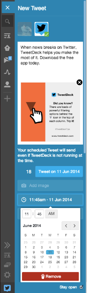 More functionality for scheduled Tweets