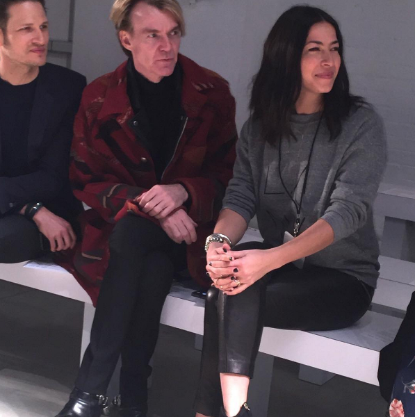 Neiman Marcus' creative director views a show with designer Rebecca Minkoff at NYFW. The brand gave fans a front-row seat via live Periscope broadcasts. Used with permission of Neiman Marcus